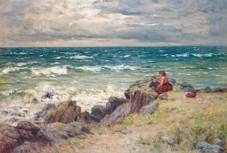 JOSEPH HENDERSON 1832-1908 A BLUSTERY PICNIC
