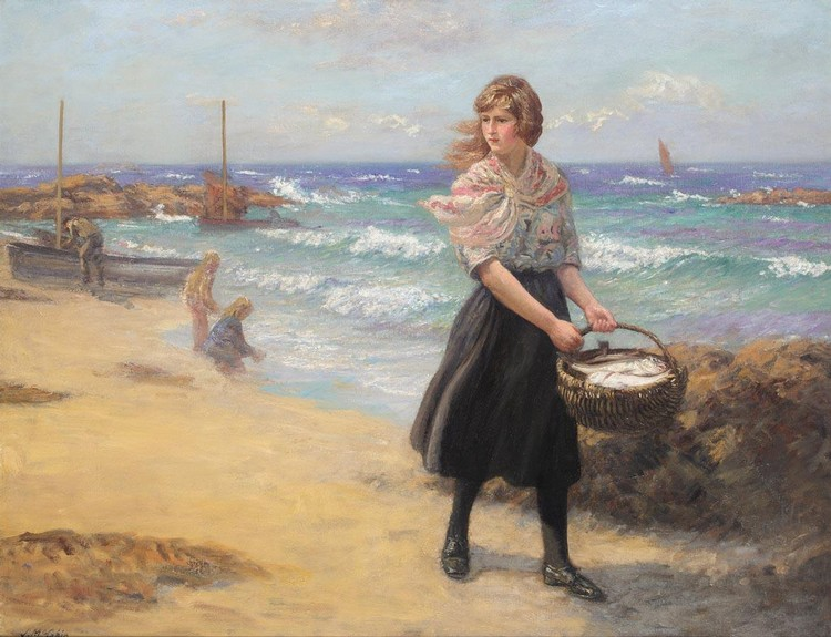 JOHN N. MCGHIE R.S.A., R.S.W. 1867-1952 TODAY'S CATCH; THE FISHERMAN'S HOUSE