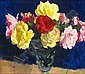 STANLEY CURSITER 1887-1976 STILL LIFE WITH RED AND YELLOW ROSES, Stanley Cursiter, Click for value