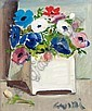 WILLIAM CROSBIE, R.S.A. 1915-1999 STILL LIFE WITH ANEMONES, William Crosbie, Click for value