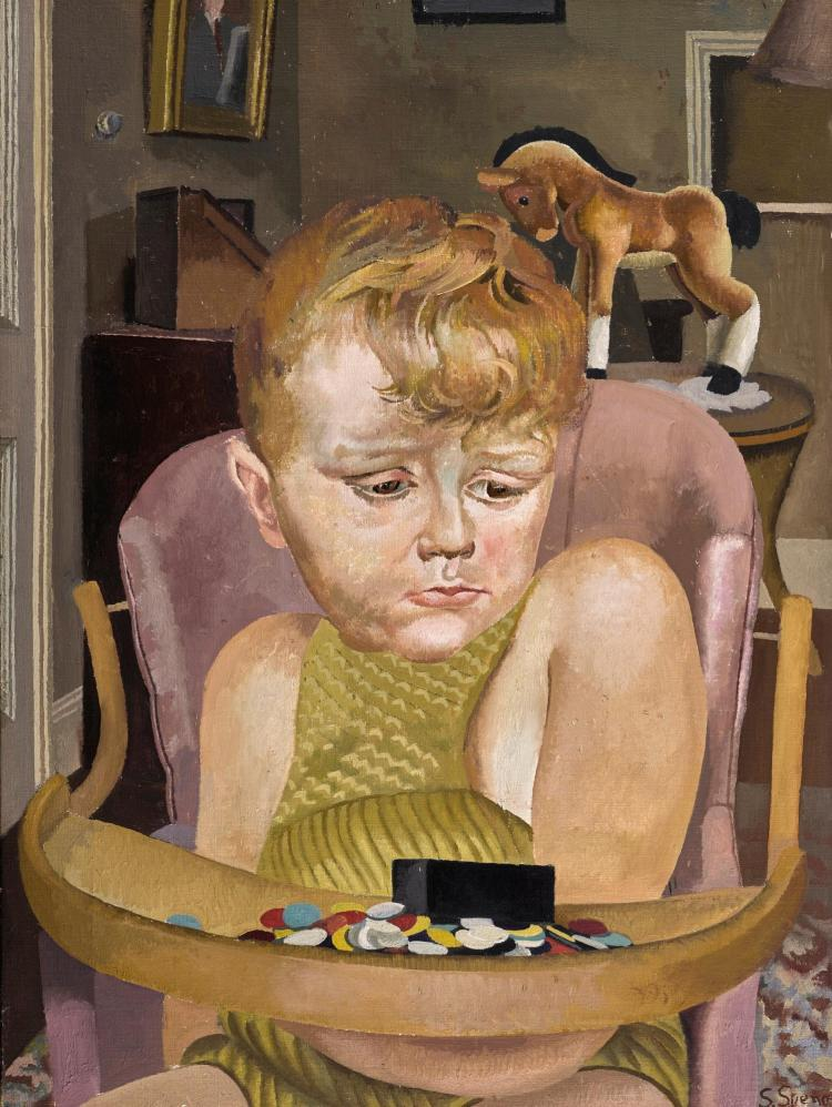 SIR STANLEY SPENCER, R.A. | Baby in a High Chair