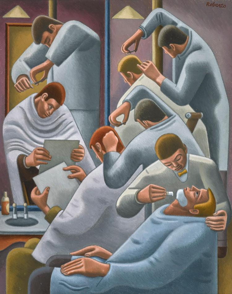 WILLIAM ROBERTS, R.A. | The Barber's Shop