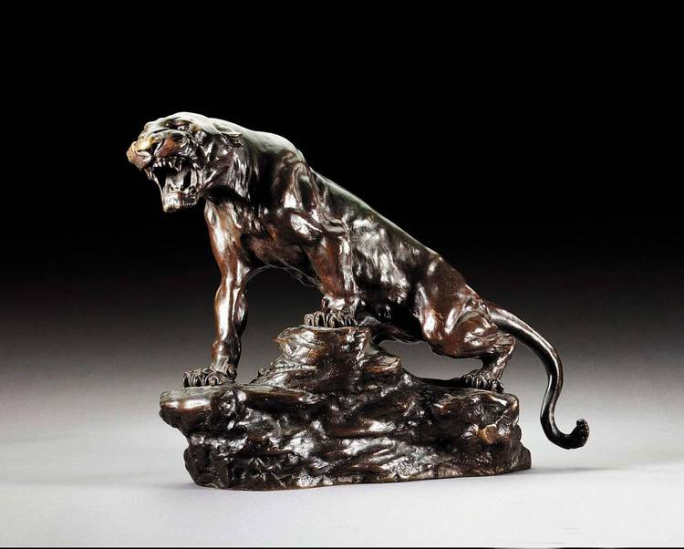 THOMAS-FRANÇOIS CARTIER, FRENCH, 1879-1943, A TIGER
