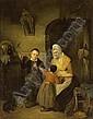 ÉDOUARD-JEAN-CONRAD HAMMAN BELGIAN 1819-1888 PLAYING WITH THE LITTLE BIRD, Edouard Hamman, Click for value