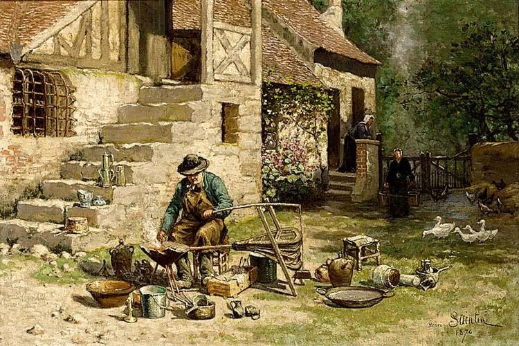HENRI SAINTIN FRENCH 1840 OR 1846-1899 A TINKER