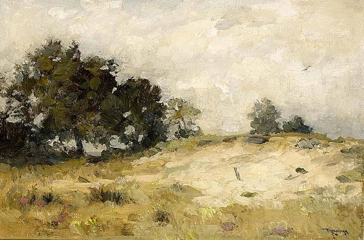 LOUIS ALBERT ROESSINGH DUTCH 1873-1951 SAND DRIFT, DRENTHE