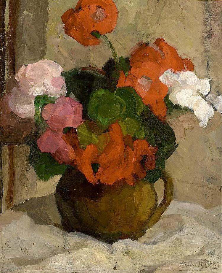 ANS VAN DEN BERG DUTCH 1873-1942 A STILL LIFE WITH FLOWERS