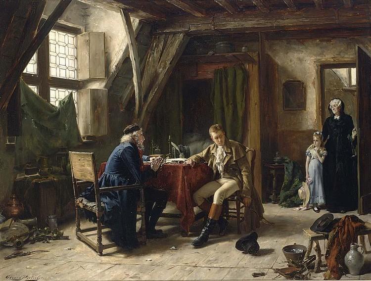 GÉRARD PORTIELJE BELGIAN, 1856-1929