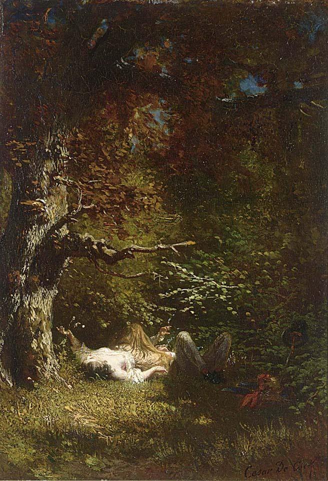 CÉSAR DE COCK BELGIAN, 1823-1904
