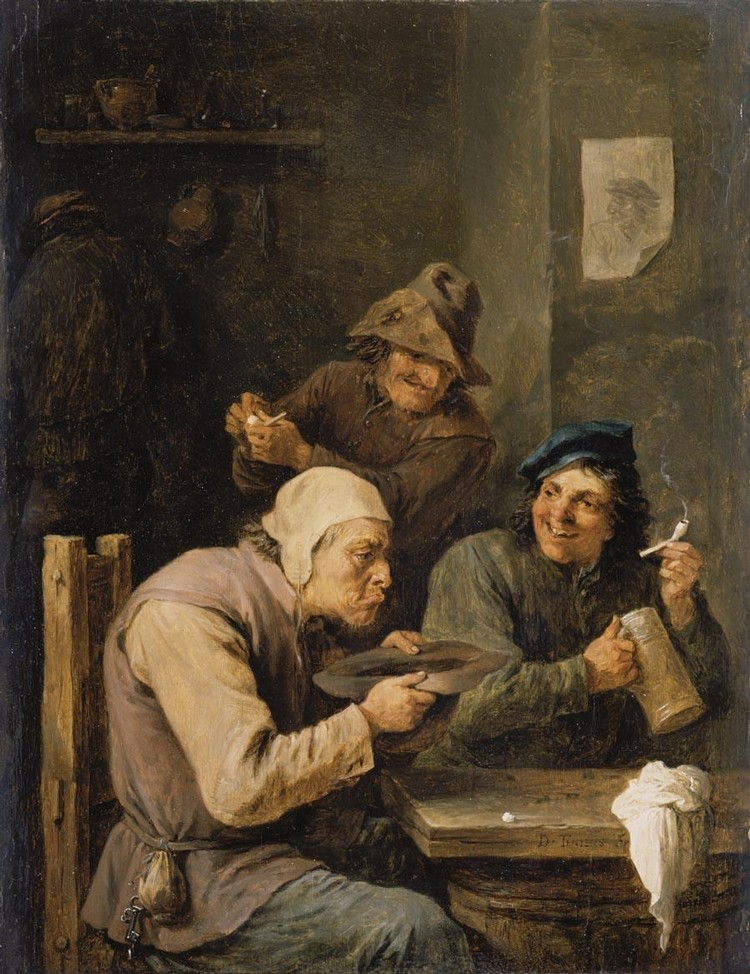 f - DAVID TENIERS THE YOUNGER ANTWERP 1610 - 1690 BRUSSELS