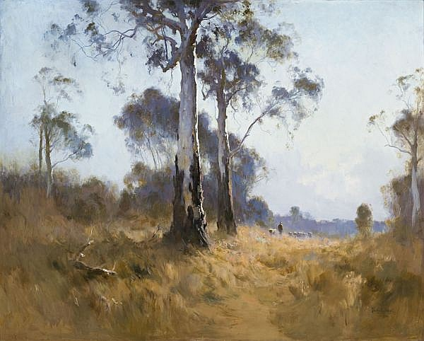PENLEIGH BOYD , GHOST GUM AT KANGAROO FLAT Oil on canvas