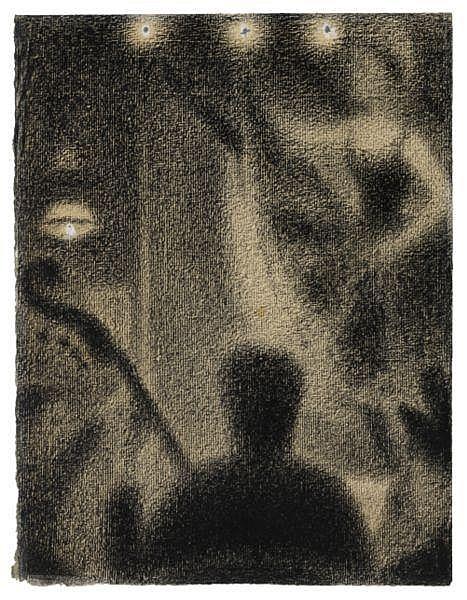 Georges Seurat , 1859-1891 AU DIVAN JAPONAIS crayon Conté et gouache sur papier