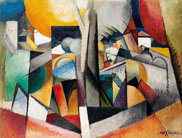 Albert Gleizes , 1881-1953 PAYSAGE CUBISTE   huile sur toile