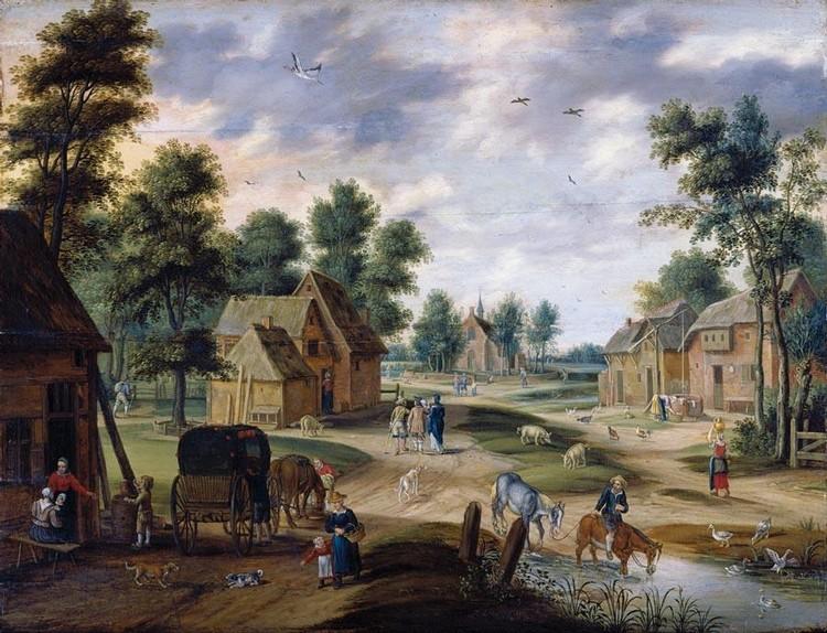 f - ISAAC VAN OOSTEN ANTWERP 1613 - 1661