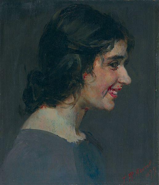 JULIAN ASHTON , THE SMILE Oil on panel