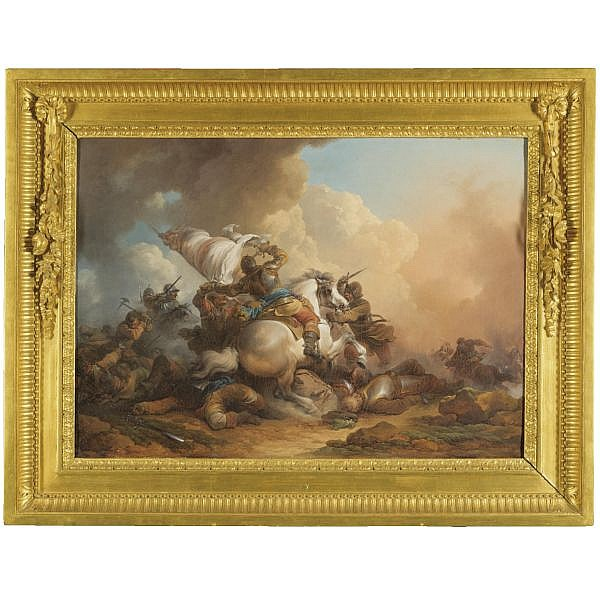 Philippe Jacques de Loutherbourg Strasbourg 1740 - 1812 London , A Cavalry Battle oil on canvas