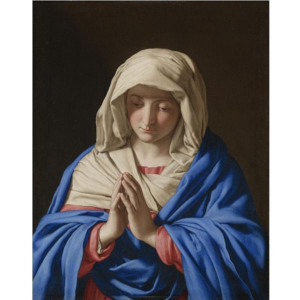 Giovanni Battista Salvi, called Sassoferrato Sassoferrato 1609 - 1685 Rome , Madonna at prayer oil on canvas