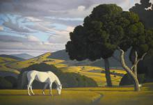 DAVID LIGARE   Untitled (Landscape with White Horse)