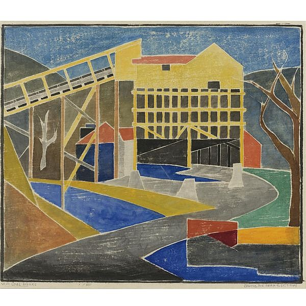 Blanche Lazzell , 1878-1956 West Virginia Coal Works