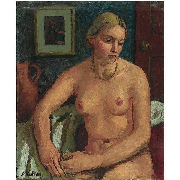 - Edward Le Bas , 1904-1966 La Belle Anglaise oil on board