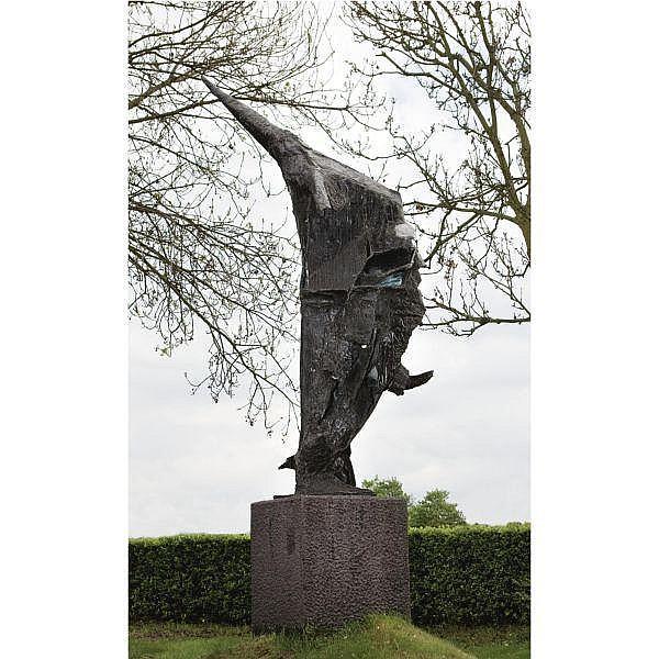 Wessel Couzijn , 1912 - 1984 Afrika ontwaakt - Rising Africa bronze
