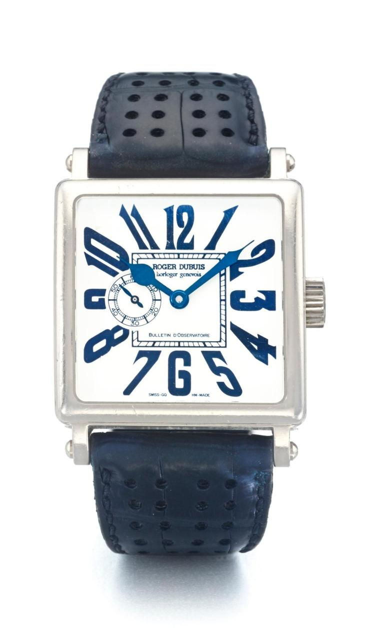 ROGER DUBUIS | A WHITE GOLD SQUARE FORM WRISTWATCH NO 14/28 GOLDEN SQUARE CIRCA 2005