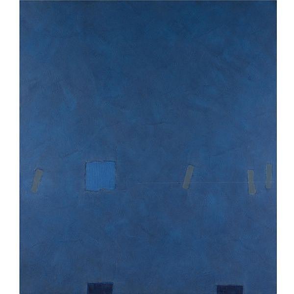 m - Felim Egan , b.1952 Blue Rise acrylic and mixed media on canvas