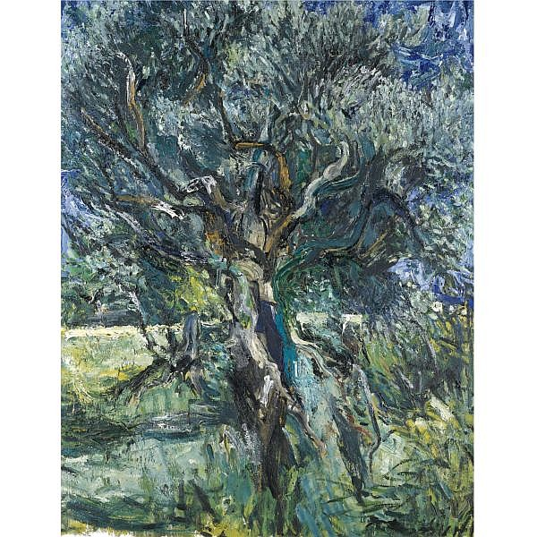 Patrick Swift , 1927 - 1983 Olive Tree oil on canvas laid on board