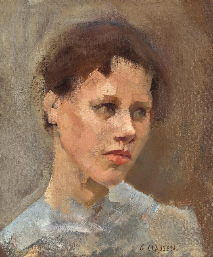 Study of the head of a young girl | Works of Art | RA ... |Sir George Clausen Head Girls