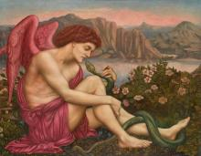 EVELYN DE MORGAN | The Angel with the Serpent