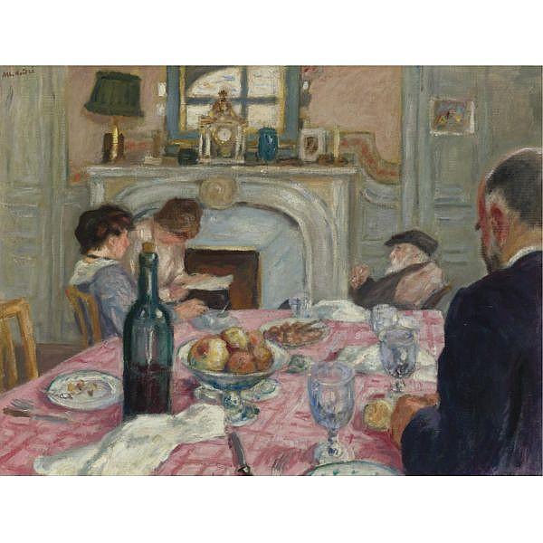 Albert André , 1869-1954 Après-déjeuner chez Renoir Oil on canvas