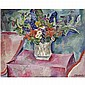 - Petr Petrovich Konchalovsky , 1876-1956 Flowers on Pink oil on canvas   , Pyotr Konchalovsky, Click for value
