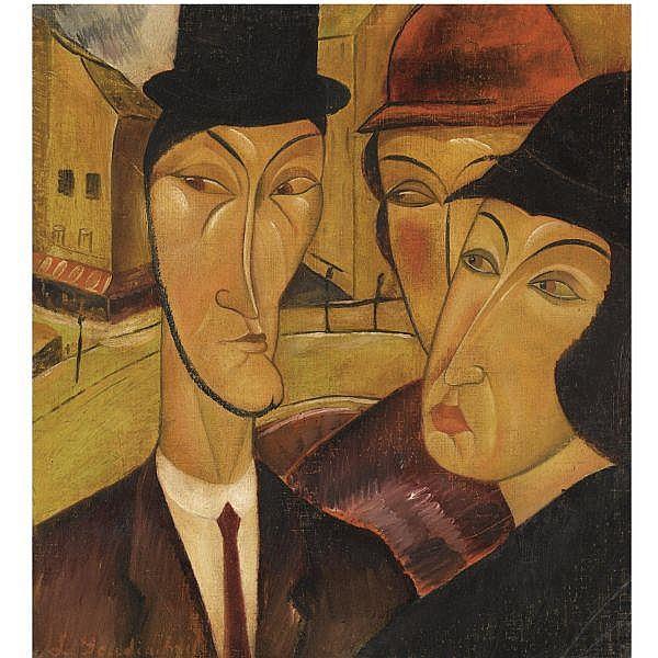 - Vladimir Davidovich Gudiashvili , 1896-1980 Paris and the Parisians oil on canvas laid on board