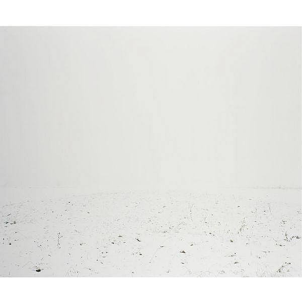 Ori Gersht b. 1967 , White Scape 2 c-print mounted on aluminum