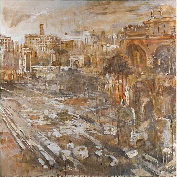 - Valery Koshlyakov , b.1962   Roman Forum oil on canvas