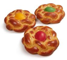 JEFF KOONS | Bread with Egg (Yellow; Green; and Red) [Three Works]