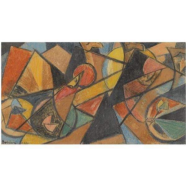 Alexander Volkov , 1886 - 1957 Caravan pastel on paper