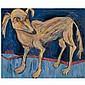 - Maxim Kantor , b.1957 Stray Dog oil on canvas   , Maksim Kantor, Click for value