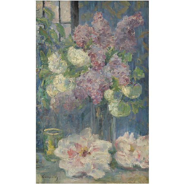 Nikolai Nikolaevich Sapunov , 1880-1912 Still life with flowers oil on canvas