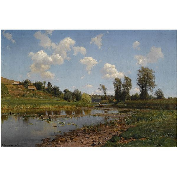 - Iosif Evstafevich Krachkovsky , 1854-1914 view near lubni, Ukraine oil on canvas