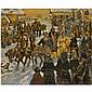 Leonid Viktorovich Turzhansky , 1875-1945 russian wedding oil on canvas