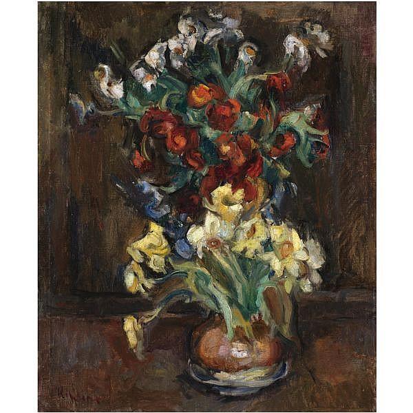 Michel Kikoïne , 1892-1968 still life of flowers oil on canvas