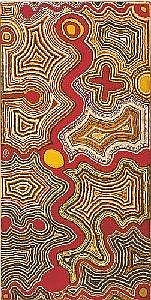 TJUMPO TJAPANANGKA BORN CIRCA 1930 NGUNKANAPILKA 1991 152 by 76 cm Synthetic polymer paint on canvas Bears artist's name and Warlayirti Artists catalogue number 667/91 on the reverse Provenance: Warlayirti Artists, Balgo Hills Private collection, USA