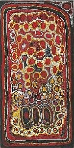 JOHN MOSQUITO TJAPANGARTI CIRCA 1922-2004 TJINTJAMATJU 1991 100 by 50 cm Synthetic polymer paint on canvas Bears artist's name, size and Warlayirti Artists catalogue number 605/91 on the reverse Provenance: Painted in 1991 at Wirrimanu (Balgo Hills),