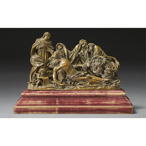 An Austrian Boxwood Relief of the Pieta, Circle of Johann Peter d. Ä. Schwanthaler (1720-1795), 