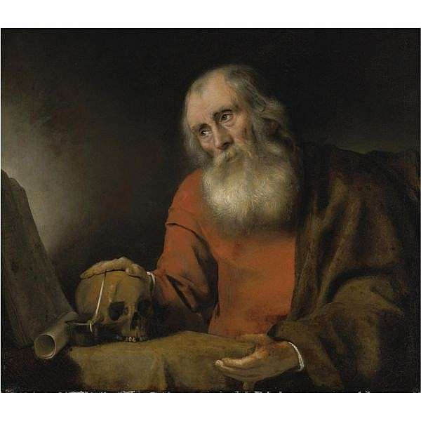 Abraham van Dijck , Amsterdam 1635/6 - 1672 St. Jerome oil on canvas