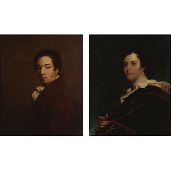- Attributed to John Opie, R.A. 1761-1807 , Self-portrait of the artist oil on canvas. Together with Attributed to William Edward West, Portrait of George Gordon, Lord Byron, oil on canvas, 30 1/2 by 25 1/2 in. (2 works)