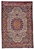 A KASHAN SILK CARPET, CENTRAL PERSIA |