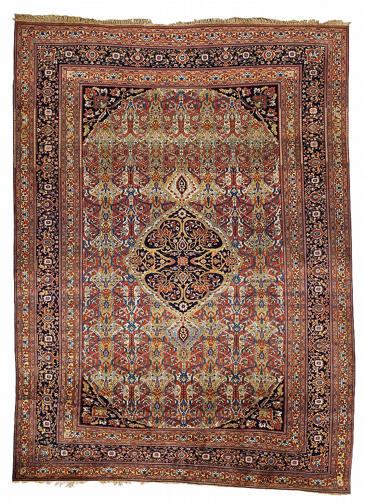 A KASHAN CARPET, ATTRIBUTED TO THE MOHTASHAM WORKSHOP, CENTRAL PERSIA |