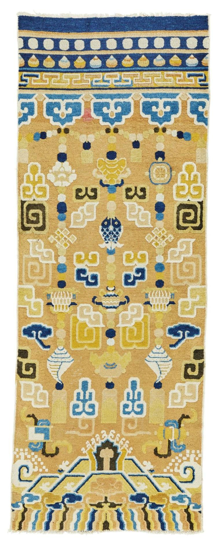 A NINGHSIA PILLAR RUG, WEST CHINA |